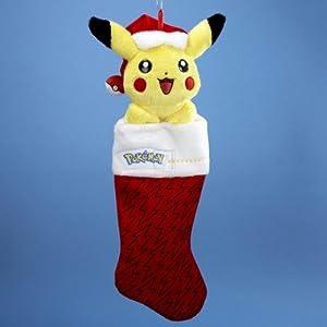 Kurt Adler PM7901 Pikachu Plush Head Stocking