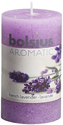 Ivyline Bolsius 100 X 58 Mm Rustic Scented Pillar Candle French Lavender by Ivyline