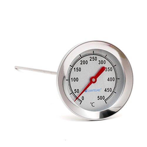 Edelstahl 500 °C Grad Thermometer Wasserdicht 30 cm mit Messing ...