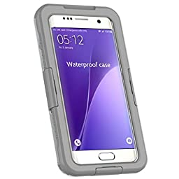 For Samsung Galaxy S7 Edge Case, LUNIWEI Waterproof Shockproof DustProof C...