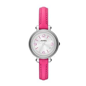 Fossil Damen-Armbanduhr XS Heather Analog Quarz Leder ES3302