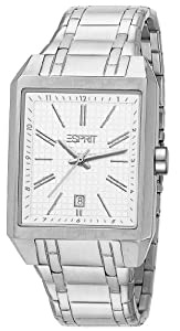 Esprit Herren-Armbanduhr Monterey Silver Analog Quarz Edelstahl ES104071004