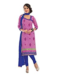 Vibes Cotton Straight Fit Designer Salwar Kameez ( Get Free Top That Can Be Wore With The Same Bottom And Dupatta... - B00QJ9L2M6