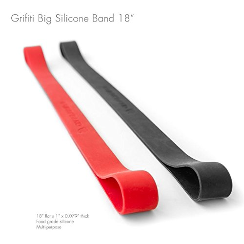 Grifiti Band Joes 18 x 1 2 Pack Insanely Stretchy Jumbo Size for Art, Cooking, Wrapping, Exercise, MacBooks, Bag Wraps, Dungies Replacements, and Made with Silicone Instead of Rubber or Elastic (Big Rubber Bands compare prices)
