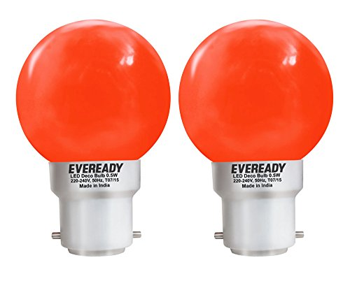 0.5W Red Deco LED Bulb (Pack of 2)