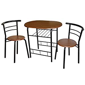 Bistro set 3 piece for small space dining room or breakfast nook kitchen home - Piece dining set small spaces plan ...