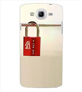 ColourCraft Love Lock Design Back Case Cover for SAMSUNG GALAXY MEGA 5.8 I9150