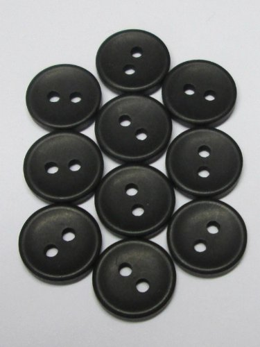 10 Hemden Blusen Knöpfe 12 mm schwarz