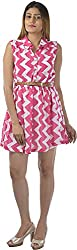 HotShot Women's Polyester Button Front Dress (RH028, Large)