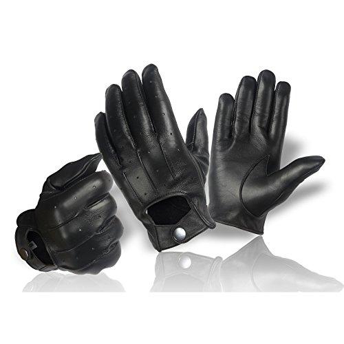Echt-Leder-Damen-Handschuhe-zum-knpfen-klassisch-Herren-Lederhandschuhe-Autofahrer-Motorrad-Reiten-Gre-S-XXL