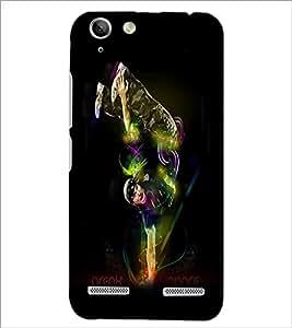 PrintDhaba Break Dance D-1177 Back Case Cover for LENOVO A6020a46 (Multi-Coloured)