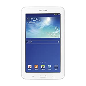 """Samsung Galaxy Tab 3 Lite 7.0"""" White 8GB Tablet, 16GB Card, Headphones, and Case Bundle - Includes tablet, 16GB microSD memory card, 7-8"""" tablet sleeve, audio earbuds, universal touch screen stylus pen, and cleaning kit"""