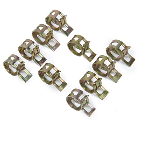 10 x 12mm Spring Clip Gas Hose Line Water Pipe Air Tube Clamps Fastener