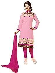 Shree Hans Creation Ayesha Takiya megha Pink Cotton Dress