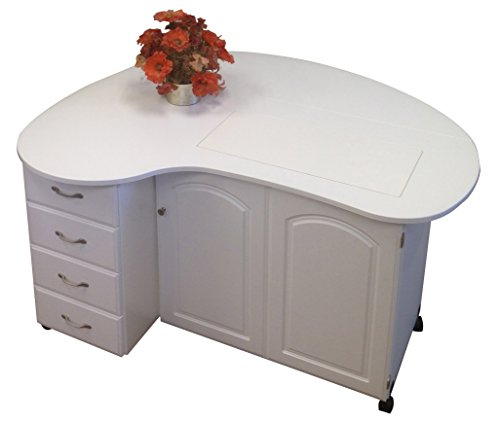 Model 8300 Quilter's Cloud 9 Premium 4 Drawer Cabinet in white.