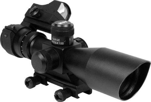 Aim Sports Cqb Combo Kit (Includes: 3-9X40 Scope, Red Dot, Picatinny Mount, Mil-Dot),Black