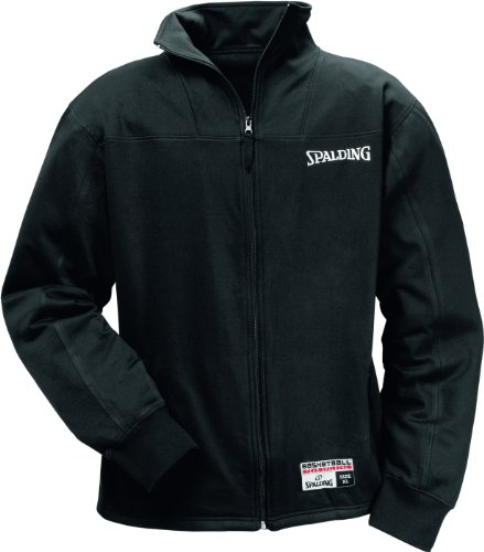 Spalding, Uomo Authentic Zipper Giacca, Nero (schwarz), XXXL