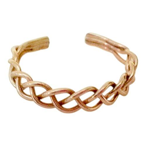 14k Gold Filled Weave Adjustable Toe Ring