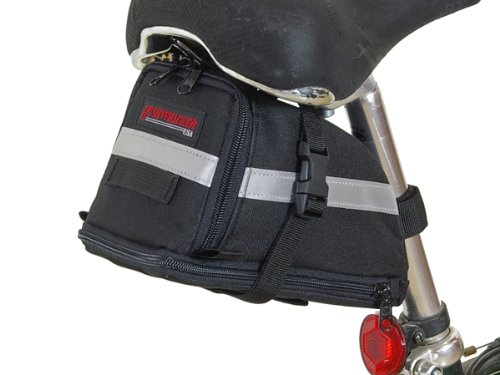 Bushwhacker Tacoma - Expandable Bike Seat Bag - w/ Reflective Trim & Light Clip Attachment