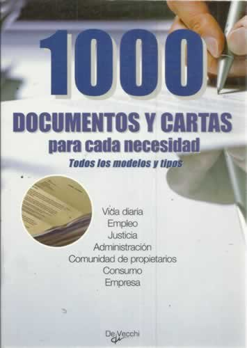 1000 documentos y cartas para cada necesidad. Todos los modelos y tipos