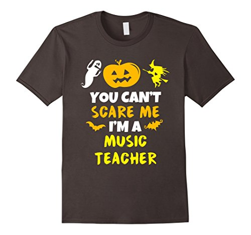 [Men's You Can't Scare Me I'm A Music Teacher Halloween T-Shirt 2XL Asphalt] (Costumes For Teachers)