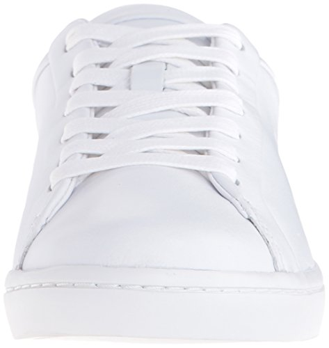 Lacoste Women's Straightset 316 1 Caw Fashion Sneaker, White, 6 M US
