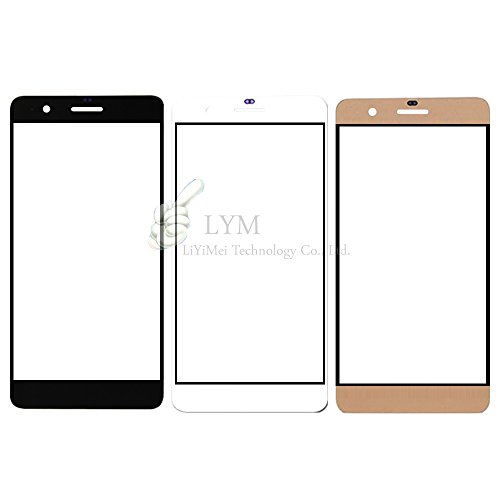 """5pcs/lot Outer Glass Screen for Huawei Honor 6 Plus /5.5"""" Front Glass Lens Repair Outer Panel Part - white"""