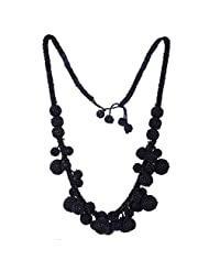 Chokers And Charms Beautiful Black Bold Look Necklace For Women