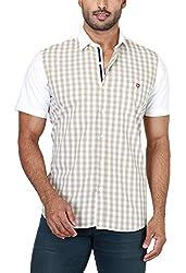 Botticelli Plain Shirts for men-Beige