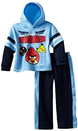 Angry Birds Boys 2-7 Wingmen 2 Piece Hoodie Set, Blue, 5