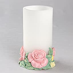 Floral Ring Base With LED Candle