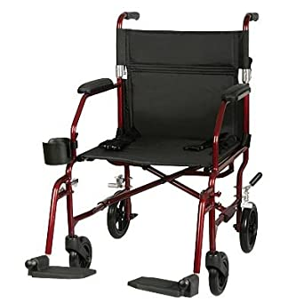 Excel Freedom Transport Chair (Options - Color: Red)