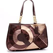 Hot Sale Coach Inlaid Patchwork Tote 20013