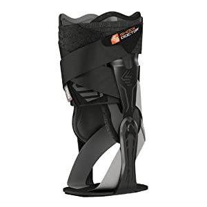 Shock Doctor V-Flex Ankle XT Brace for Right Ankle, Black, Small