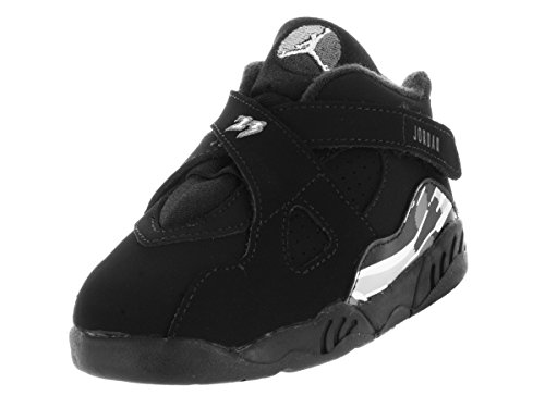 Nike Jordan Toddlers Jordan 8 Retro Bt Black/White/Lt Graphite Basketball Shoe 5 Infants US