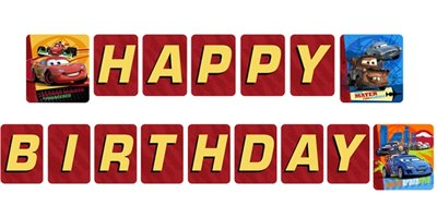 Cars 2 Happy Birthday Banner (1ct)