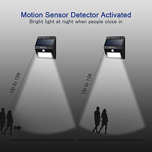 solar motion sensor lights hetekell super bright outdoor 8 led solar. Black Bedroom Furniture Sets. Home Design Ideas