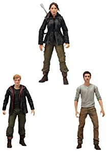 The Hunger Games Movie (Set of 3) 7 inch Action Figures