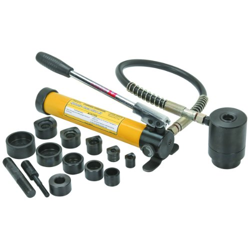 14 Piece 10 Ton Hydraulic Punch Driver Kit with Carrying Case