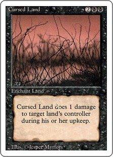 マジック:ザ・ギャザリング 【英語】 【リバイズド】 呪われた地/Cursed Land