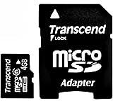 Transcend 4 GB microSDHC Class 6 Flash Memory Card TS4GUSDHC6E