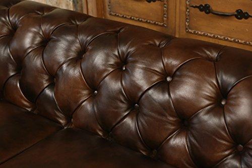 Abbyson Living Foyer Premium Italian Leather Sofa 4