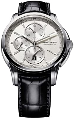 Maurice Lacroix Men's PT6188-SS001130 Pontos Pontos Silver Chronograph Dial Watch from Mauser