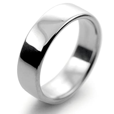 Platinum Wedding Ring Slight Court Medium - 6mm Mens