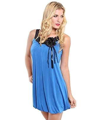 KRISP® Femme Robe Tunique Boule Bicolore