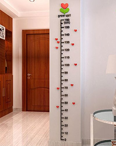 SIS-Height-Gauges-wall-sticker-for-kids-roomwall-decalshome-decor-with-hearts-160cm