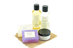Khadi - Herbal Spa Skin Care Kit of Bubble Bath, Massage Oil, Cream & Soaps