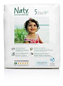 Nature Babycare Size 5 [24-55 lbs/11-25 kg] Nappies - 3 x Packs of 28, total 84 Nappies (Pack of 3)