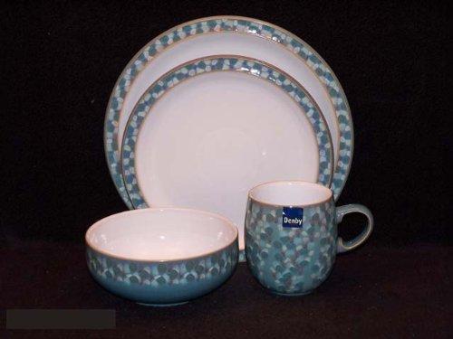 Denby Azure Shell 4 Pc Place Setting & denby azure