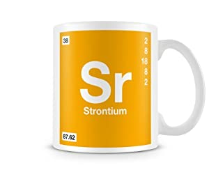Periodic Table of Elements 38 Sr - Strontium Symbol Mug ...